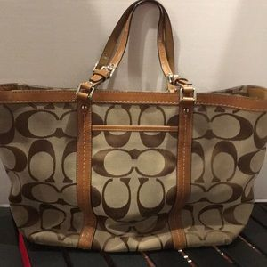 Coach Signature Large Gallery Tote